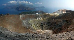Console de Gran Cratere - de Vulcano Imagens de Stock Royalty Free
