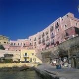 Console de Italy Ventotene o porto Imagem de Stock