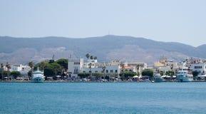 Console de Kos Panorama O melhor destino do turista Fotografia de Stock
