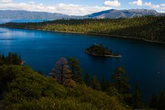 Console de Lake Tahoe Fotos de Stock