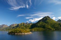 Console de Lofoten em Noruega norte Fotos de Stock Royalty Free