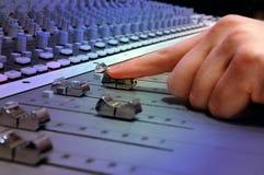 Console de mélange de studio d'enregistrement Photos libres de droits