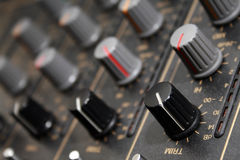Console de mélange sonore Photos libres de droits