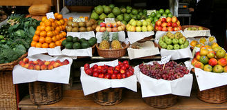 Console de Madeira - mercado dos fazendeiros Imagens de Stock