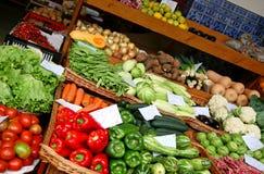 Console de Madeira - mercado dos fazendeiros Fotografia de Stock Royalty Free