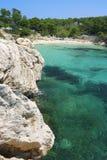 Console de Mallorca - Cala Gat Foto de Stock