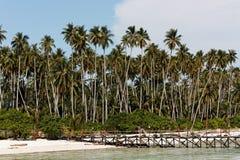 Console de Maratua, um atoll do paraíso fora de Bornéu Fotos de Stock Royalty Free