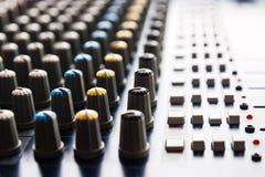Console de mistura Foto de Stock