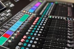 Console de mistura audio Fotos de Stock Royalty Free
