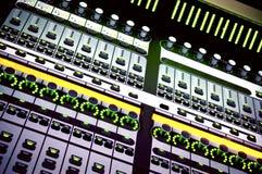 Console de mistura audio Foto de Stock Royalty Free