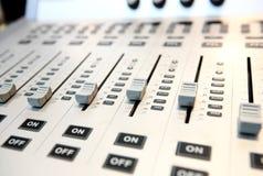 Console de mistura audio Fotografia de Stock