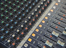 Console de mistura audio Imagem de Stock Royalty Free