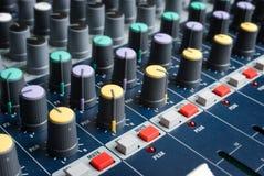 Console de mixeur son Image stock