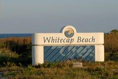 Console de Padre da praia de Whitecap imagens de stock
