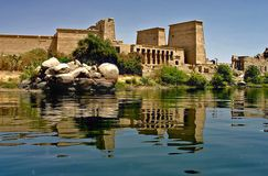 Console de Philae - Egipto fotos de stock royalty free