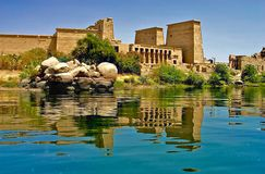 Console de Philae - Egipto foto de stock royalty free