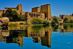Console de Philae - Egipto fotografia de stock royalty free