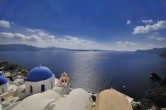 Console de Santorini Fotografia de Stock