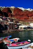 Console de Santorini, Greece Foto de Stock