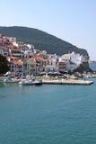 Console de Skopelos, Sporades grego Foto de Stock Royalty Free