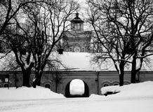 Console de Suomenlinna no inverno Foto de Stock Royalty Free