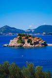 Console de Sveti Stefan, Montenegro Imagem de Stock Royalty Free