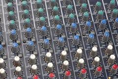 Console del tecnico del suono Fotografia Stock