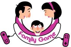 Console do jogo da família Imagem de Stock