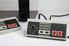 Console do jogo de vídeo Imagens de Stock Royalty Free