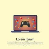 Console do jogo de vídeo do laptop Imagens de Stock Royalty Free