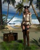 Console do pirata ilustração royalty free