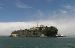Console e farol de Alcatraz Foto de Stock Royalty Free