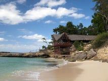 Console e praia do paraíso Fotografia de Stock Royalty Free