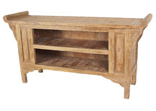 Console en bois solide Photo stock