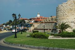 Console famoso de Nesebar - lugar turístico popular Imagem de Stock Royalty Free