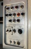 Console for flight attendant in the old airliner Royalty Free Stock Photography
