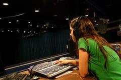 console girl working στοκ φωτογραφίες