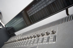 Console mixer in music studio Stock Photography