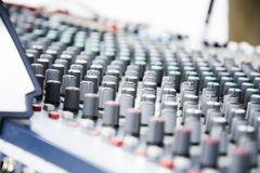 Console music equipment Royalty Free Stock Photos