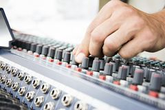 Console music equipment Royalty Free Stock Photography