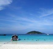 Console número 4 da praia de Similan Imagem de Stock