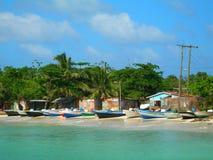 Console Nicarágua do milho das casas de barcos da pesca Imagem de Stock Royalty Free