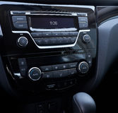 Console panel of the car Royalty Free Stock Image