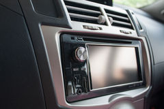 Console panel of car Stock Image