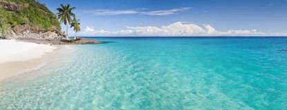 Console, praia e lagoa Imagens de Stock