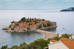 Console-recurso de Sveti Stefan, Montenegro fotografia de stock