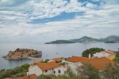 Console-recurso de Sveti Stefan, Montenegro imagens de stock royalty free