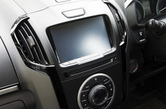 Console with screens in cars Stock Images
