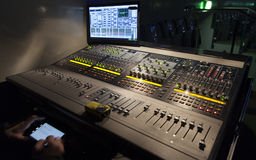 Console sound engineer Stock Image