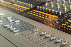 Console sound engineer Royalty Free Stock Photos
